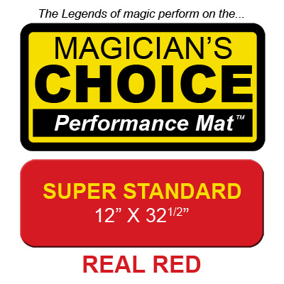 Super Standard Close-Up Mat (REAL RED - 12x32.5) by Ronjo - Trick