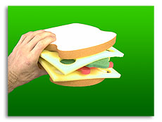 Sponge Club Sandwich (Xtr Cheese)