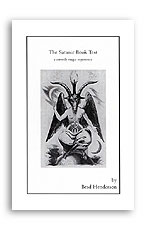 Satanic Book Test booklet Henderso