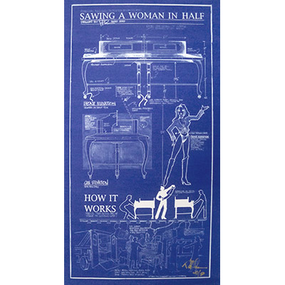 "Sawing A Woman In Half Poster(42"" x 22"")in tube by Paul Osborne - Trick"