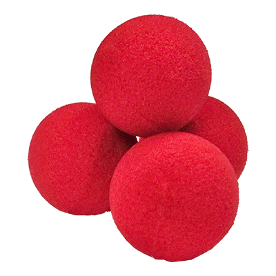 1.5 inch High Density Ultra Soft Sponge Ball (Red) Pack of 4 from Magic by Gosh