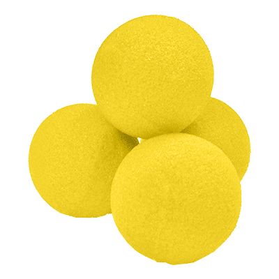 "1.5"" High Density Ultra Soft Sponge Ball (Yellow) Pack of 4 from Magic by Gosh"