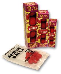 4 Bolas de Esponja Regular - 1.5 Pulgadas (Rojo)