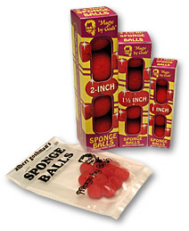 "reg 1"" bag of 50 Sponge Balls (Red)"