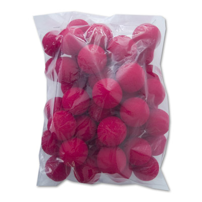 "1.5"" Super Soft Sponge Balls (Red) Bag of 50 from Magic by Gosh"