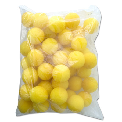 "1.5"" Super Soft Sponge Balls (Yellow) Bag of 50 from Magic by Gosh"