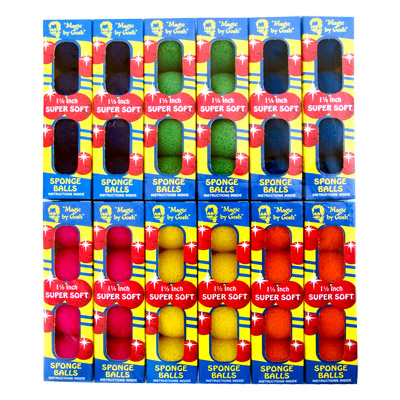 Bolas de Esponja Super Suave 1.5 Pulgadas - Mixed Colors - (12 pack)