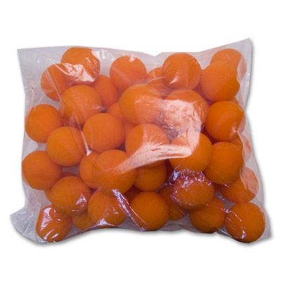 "2"" 50 Super Soft Sponge Balls (Orange) - Trick"