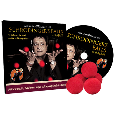 Schrodinger's Balls (DVD and Props) by Rajan and Alakazam Magic - DVD