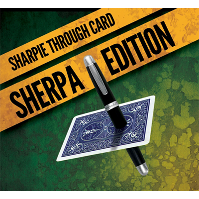 Sharpie Through Card SHERPA Version (DVD and Gimmick) Red by Alakazam Magic - DVD