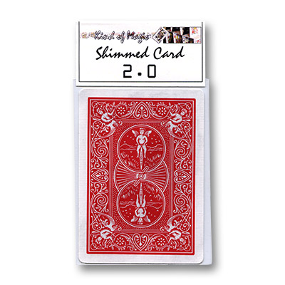 Shimmed Card 2.0 (Red Back Bicycle) - Trick