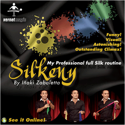 Silkeny (Props and DVD) by Vernet Magic - DVD
