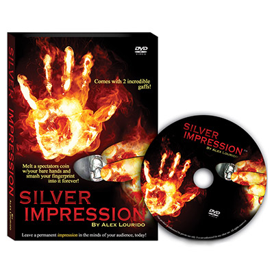 Silver Impression (US Quarter with DVD) by Alex Lourido - Trick