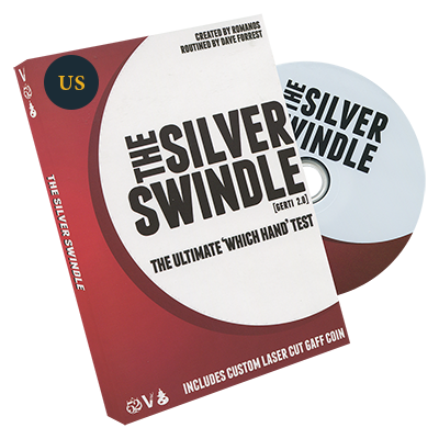 Silver Swindle (US Quarter) by Dave Forrest and Romanos - DVD