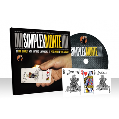 Simplex Monte Red (Gimmicks and Online Instructions) by Rob Bromley and Alakazam Magic - DVD