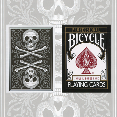 Skull and Bones Deck (Black)Cambric finish  by Conjuring Arts Research Center - Trick