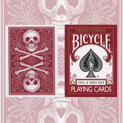 Skull and Bones Deck (Red)Cambric finish  by Conjuring Arts Research Center - Trick