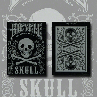 Carti de joc Bicycle Skull Metallic (Silver) USPCC