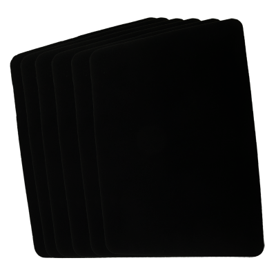 "Small Close Up Pad 6 Pack (Black 8.5"" x 12"") by Goshman"