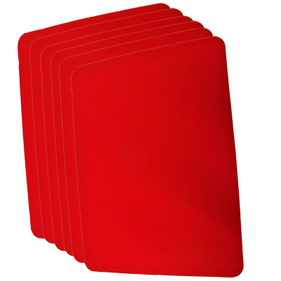 Small Close Up Pad 6 Pack (Red 8.5 inch  x 12 inch) by Goshman - Trick