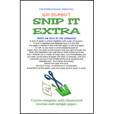 Snip It Extra by Aldo Colombini - Trick