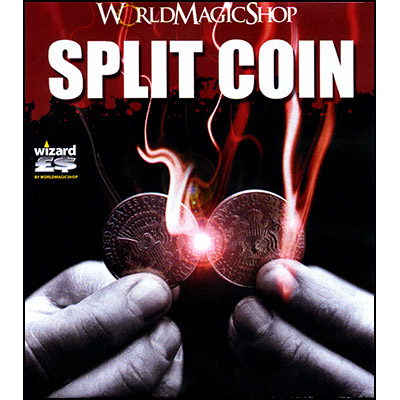 Split Coin (US Half Dollar Coin) by World Magic Shop - Trick