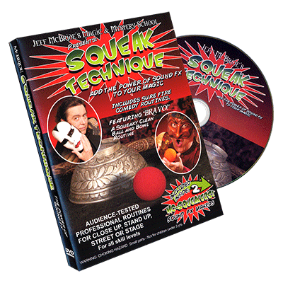 Squeak Technique (DVD and Squeakers) by Jeff McBride