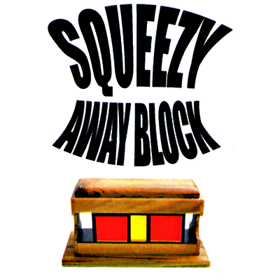 Squeeze Away Block (Teak Wood) by Vincenzo DiFatta - Tricks