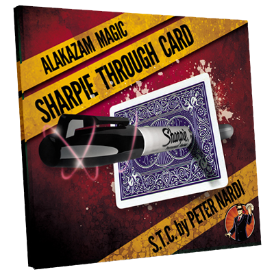 Sharpie Through Card (DVD and Gimmick) Blue by Alakazam Magic - DVD