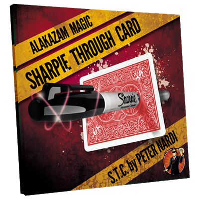 Sharpie Through Card (DVD and Gimmick) Red by Alakazam Magic - DVD