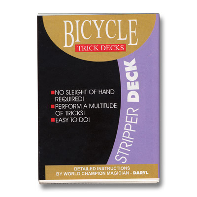 Stripper Deck Cartas Bicycle - Rojo