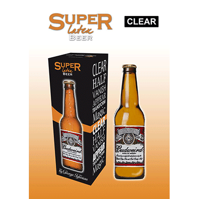 Super Latex Brown Beer Bottle(Empty) by Twister Magic - Trick