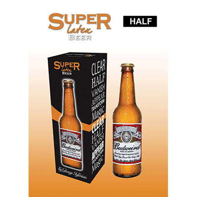 Super Latex Brown Beer Bottle (Half)