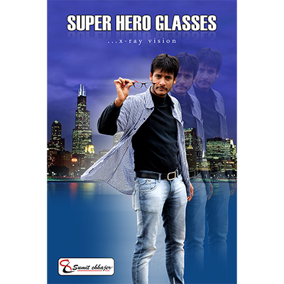 Super Hero Glasses (Blue) by Sumit Chhajer - Trick
