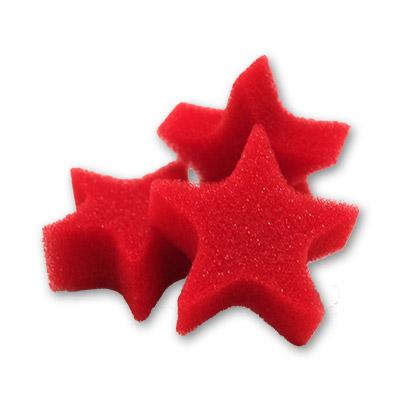 Extrellas de Esponja - Rojo - Bolsa con 25 - Goshman