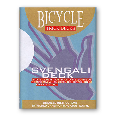 Svengali Deck Bicycle Mandolin (Red) - Trick