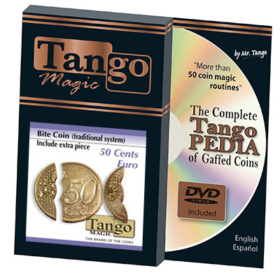 Biting Coin (50c Euro Traditional w/DVD) (E0045) from Tango