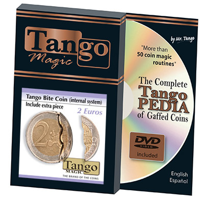 Biting coin (2 Euro w/DVD -internal w/extra piece)(E0044) from Tango