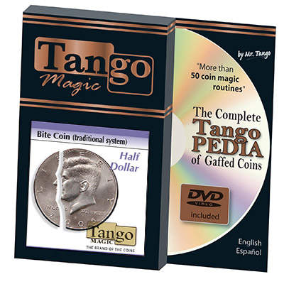 Bite Coin - (US Half Dollar w/DVD - Traditional With Extra Piece) by Tango - Trick (D0046)