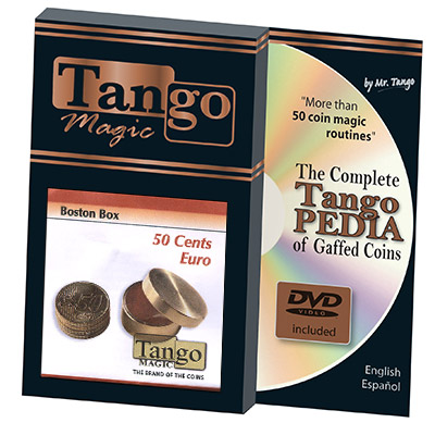Boston Coin Box Brass (50 cents Euro w/DVD) by Tango - Trick (B0006)
