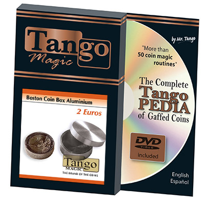 Boston Coin Box (2 Euro Aluminum w/DVD) by Tango -Trick (A0006)