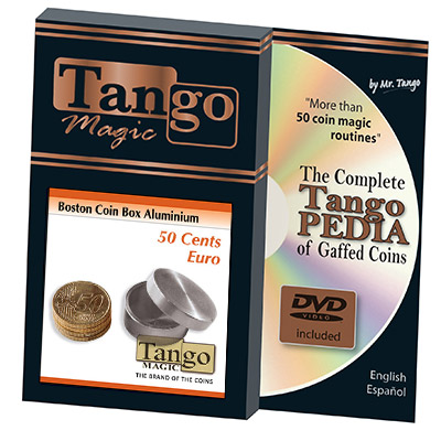 Boston Coin Box (50 cent Euro Aluminum w/DVD) (A0005) by Tango - Trick