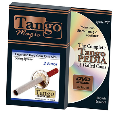 Cigarette Through (2 Euros, One Sided)E0012 by Tango - Trick