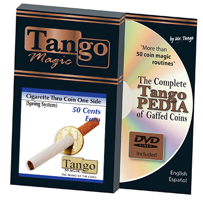 Cigarette Through (50 Cent Euro, One Sided w/DVD) E0009 by Tango - Trick
