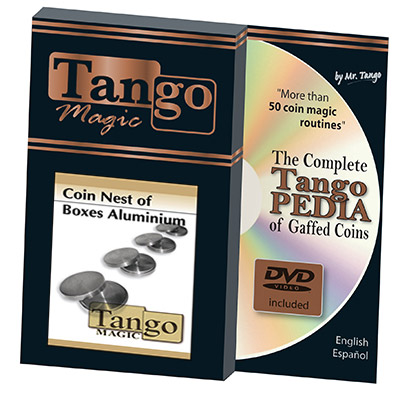 Coin nest of Boxes (Aluminum w/DVD) by Tango - Trick (A0021)