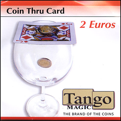 Coin thru Card (2 Euro w/DVD) by Tango - Trick (E0015)