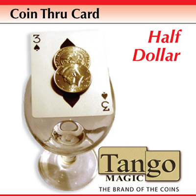Coin Thru Card (Half Dollar w/DVD) (D0016) Tango