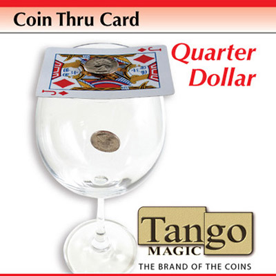 Coin Thru Card (Quarter Dollar w/DVD) (D0017) Tango