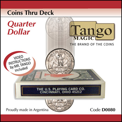 Coins Thru Deck Quarter by Tango - Trick (D0080)