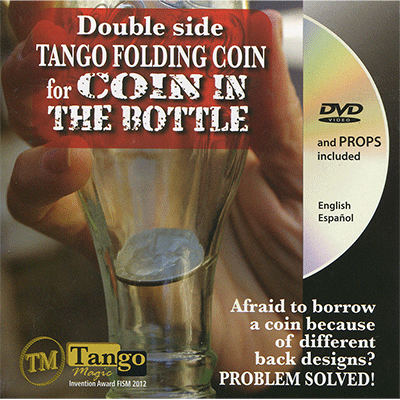 Double Side Folding 50 Cent Euro (Internal System DVD w/Gimmick) (E0084) by Tango Doppelseitige Faltmünze